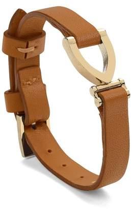 Aspinal of London Stirrup Bracelet In Smooth Tan