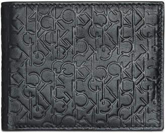 Calvin Klein Men's Embossed Logo Leather Billfold