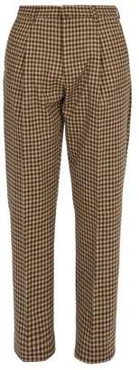 Acne Studios Boston Straight Leg Wool Trousers - Mens - Beige