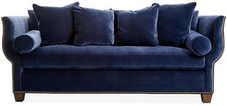 Hickory White Missy Sofa - Navy Velvet