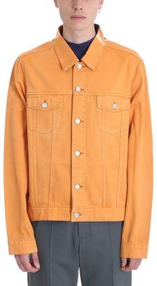 Martine Rose Orange Denim Jacket