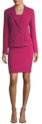 Albert Nipon One-Button Crepe Jacket & Sheath Dress Set $395 thestylecure.com