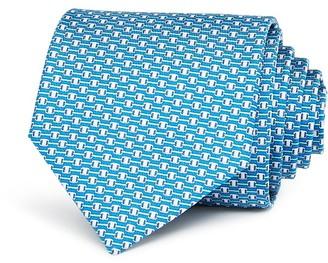 Salvatore Ferragamo Vara Link Print Classic Tie $190 thestylecure.com