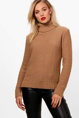boohoo Soft Knit Roll Neck Jumper