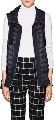 Moncler Women's Ruffled-Hem Down-Quilted Vest