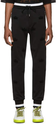 Dolce & Gabbana Black Crowns Lounge Pants