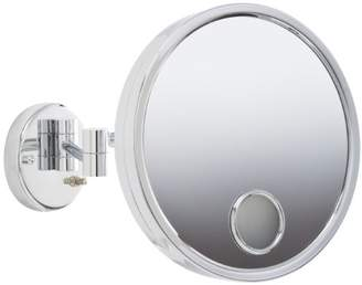 Euro Style Jerdon JD7C 9-Inch Lighted Wall Mount Makeup Mirror with 3X Magnification and Spot Mirror