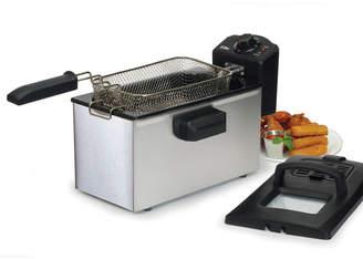 Elite Gourmet Stainless Steel 3.5 Quart Immersion Deep Fryer