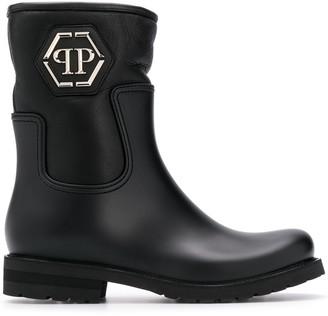 Philipp Plein Mid Flat Statement boots