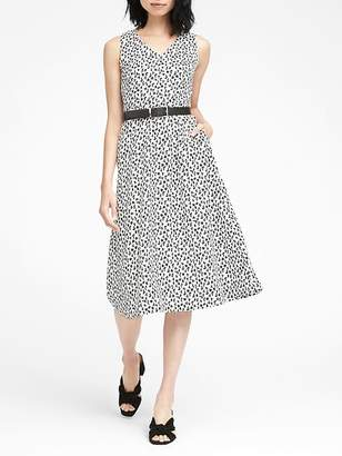 Banana Republic Print Midi Fit-and-Flare Dress