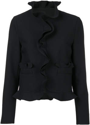 MSGM frill detail fitted jacket