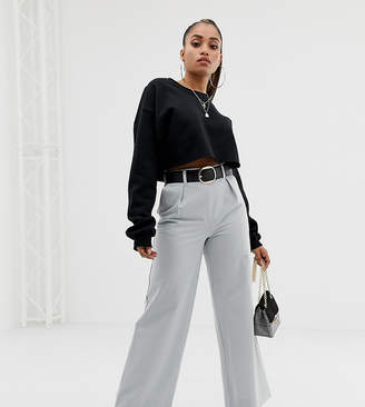 Asos DESIGN Petite wide leg trousers with pleat detail