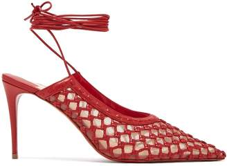 Christian Louboutin X Roland Mouret Cage and Curry leather pumps