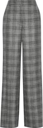 ADAM by Adam Lippes Checked Wool, Silk And Linen-blend Wide-leg Pants