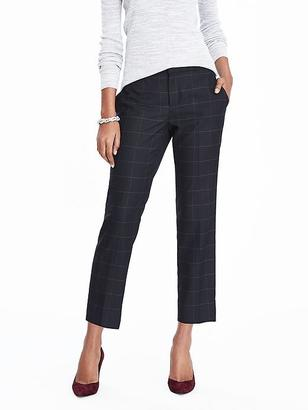 Avery-Fit Luxe Brushed Twill Windowpane Ankle Pant $98 thestylecure.com