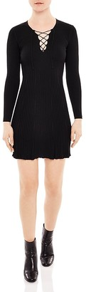 Sandro Day Lace-Up Detail Dress $295 thestylecure.com