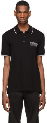 Givenchy Black Sequins Embroidered Slim Fit Polo