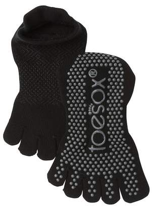 ToeSox Low Rise Onyx Full Toe Gripper Socks