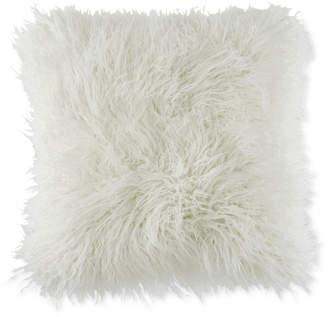 """BCBGeneration Faux-Fur Mongolian 18"""" Square Decorative Pillow"""