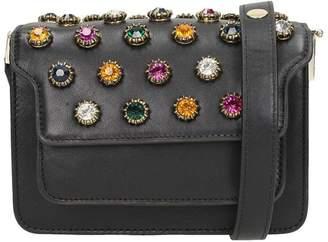 Lola Cruz Black Leather Handbag