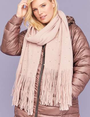 Faux Pearl Scarf