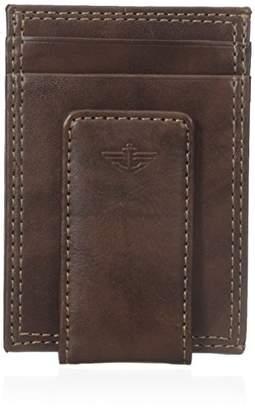 Dockers Glazed Rustler Magnetic Money Clip Wallet, Brown, One Size
