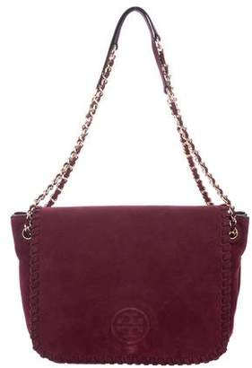 Tory Burch Marion Suede Small Flap Bag