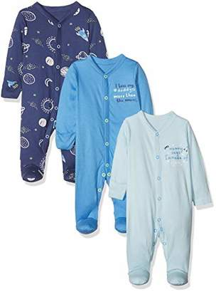 Mothercare Baby Boys Mummy & Daddy 3 Packed Sleepsuit,(Manufacturer Size: 56)