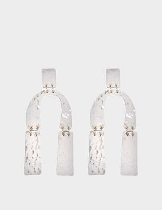 Proenza Schouler Medium Earrings in hammered Metal