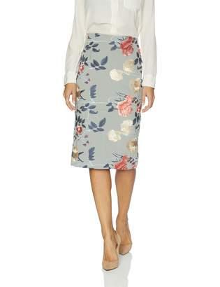 ECI New York New York Women's Pull on Embroidered midi Length Skirt