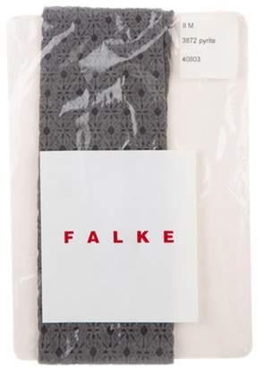 Falke Patterned Knit Tights w/ Tags Grey Patterned Knit Tights w/ Tags