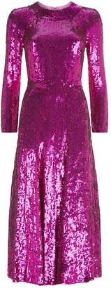 Temperley London Ray All Over Sequin Dress