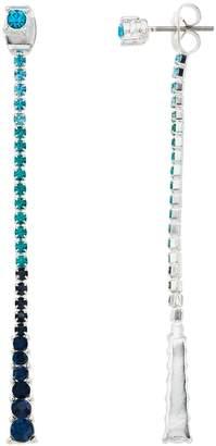 Napier Blue Simulated Stone Linear Drop Earrings