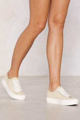 Nasty Gal Let's Take This Outside Canvas Sneaker