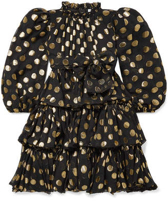 Dolce & Gabbana Ages 2 - 6 Tiered Fil-coupé Silk-blend Dress