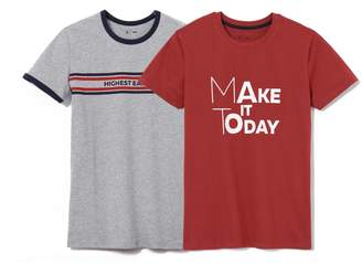 La Redoute Collections Pack of 2 Printed T-Shirts, 10-16 Years