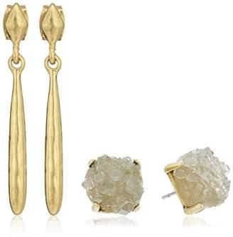 Lucky Brand Druzy Drop Earrings