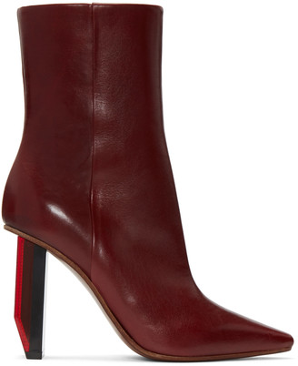 Vetements Burgundy Reflector-Heel Boots $1,710 thestylecure.com