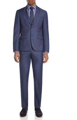DKNY Two-Piece Light Blue Wool Suit