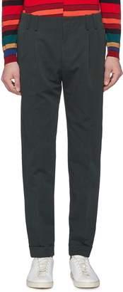 Paul Smith Pleated cotton-linen pants