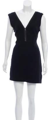 AllSaints Zip-Accented Wool Dress