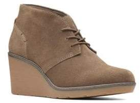 Clarks Collection By Hazen Suede Wedge Chukka Boots