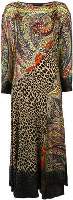 Etro mixed print long dress