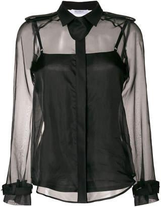 Max Mara sheer long-sleeved blouse