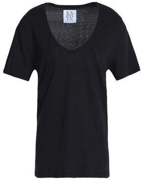 Zoe Karssen Mélange Cotton-Blend Jersey T-Shirt