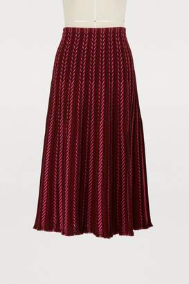 Molli Chevron knitted skirt