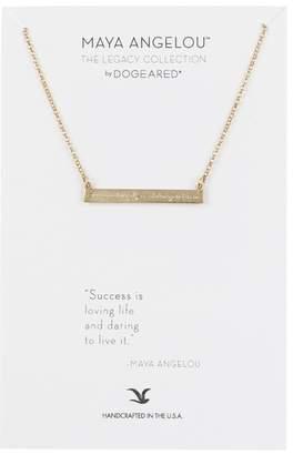 Dogeared 14K Gold Vermeil Maya Angelou Success Is Loving Bar Bracelet
