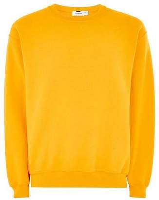 Topman Mens Yellow Gold Sweatshirt