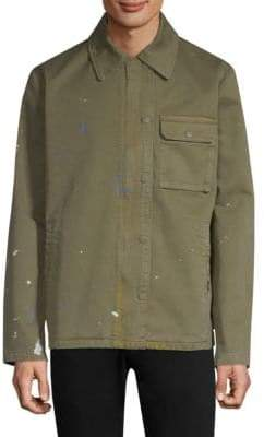 Hudson Jeans Paint Splattered Military Jacket