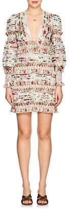Zimmermann Women's Billows Embellished Floral Linen-Silk Minidress